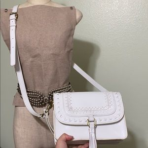 🖤Rare💕Patricia Nash white clutch shoulder bag